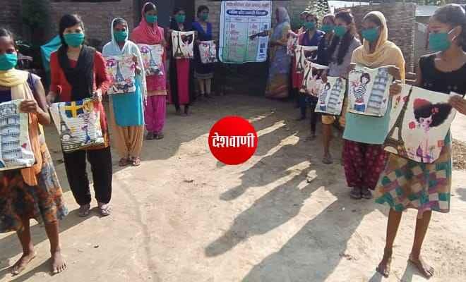 रक्सौल में बेहतर स्वास्थ्य मुहैया कराने के लिए किशोरियों के बीच किया गया गरिमा किट का वितरण