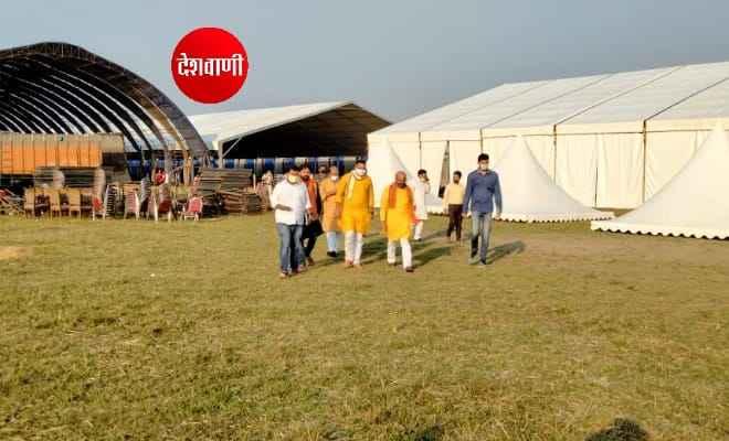 मोतिहारी: प्रधानमंत्री नरेंद्र मोदी की निर्धारित चुनावी रैली को लेकर तैयारी अपने अंतिम चरण में