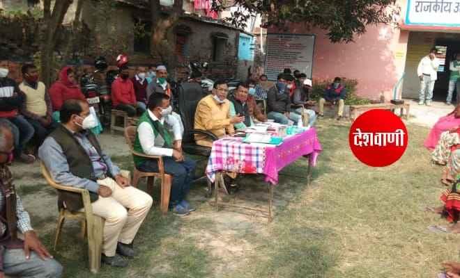 उप विकास आयुक्त द्वारा प्रधानमंत्री आवास योजना ग्रामीण का किया गया भौतिक सत्यापन एवं समीक्षा