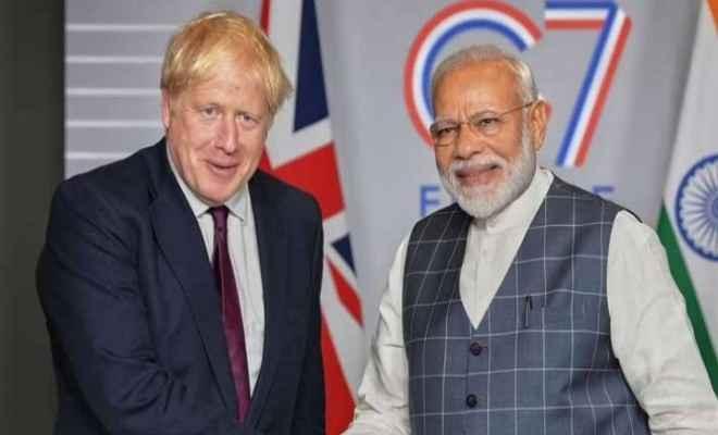 अगले साल होने वाले जी-7 शिखर सम्मेलन के लिए ब्रिटेन के प्रधानमंत्री ने प्रधानमंत्री नरेंद्र मोदी को किया आमंत्रित