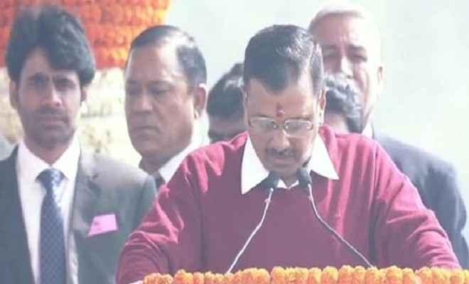 अरविंद केजरीवाल आज  दिल्ली के रामलीला मैदान में मुख्यमंत्री पद की तीसरी बार शपथ ली