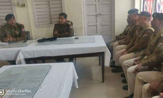 रक्सौल में आरपीएफ के सहायक सुरक्षा आयुक्त मिथिलेश कुमार राय ने पोस्ट पर उपस्थित अधिकारी व जवानों का लिया सुरक्षा सम्मेलन
