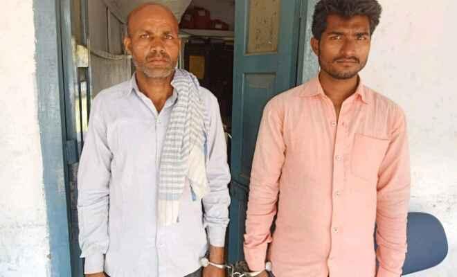 छतौनी पुलिस ने फिल्मी स्टाइल में पीछाकर बाइक चोरी कर भाग रहे दो को चिरैया-घोड़ासहन पथ से पकड़ा