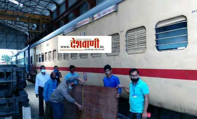रक्सौल स्टेशन पर स्थित कोचिंग डीपो में आइसोलेशन कोच बनाने का काम आज से शुरू