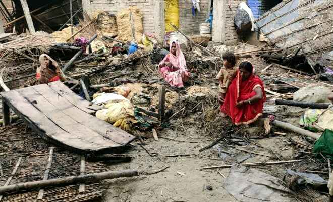 समस्तीपुर के विभिन्न क्षेत्रों में हुई अगलगी से कई घर जलकर राख, लाखों की संपत्ति की हुई क्षति