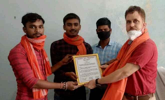रक्सौल में बजरंग दल हिंदुस्तान ने कोरोना योद्धाओ को किया सम्मानित