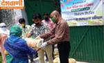 जिला विधिक सेवा प्राधिकार ने असहाय और गरीबो को खाद्य सामग्री वितरित किया