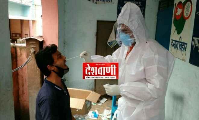 रक्सौल: कन्टोन्मेंट एरिया में लोगों के कोरोना टेस्ट के लिए मेडिकल टीम ने सैपलिंग की, 182 लोगों की हुई नोजल एवं थ्रोट सेम्पलिंग