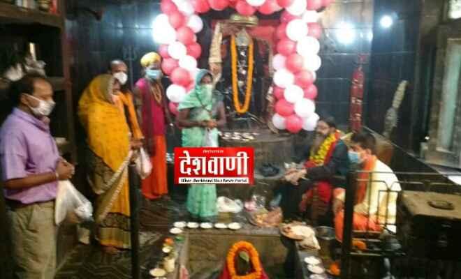 रक्सौल: गुरु पूर्णिमा के अवसर पर सिद्धपीठ काली मंदिर में साधु संत व भक्तों ने अपने गुरु से लिया आशीर्वाद