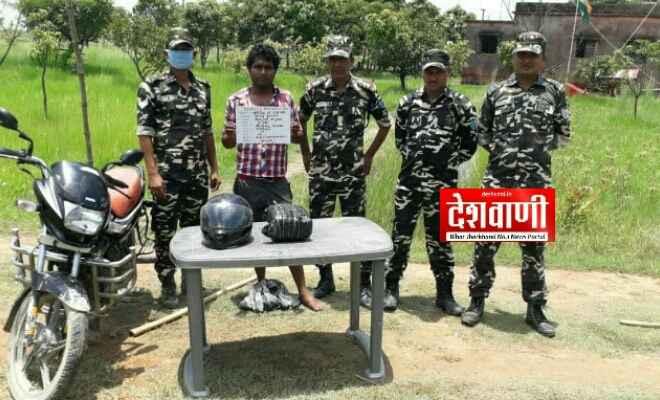 रक्सौल: तीन किलो गांजे के साथ एक युवक गिरफ्तार, गांजा बाइक में छुपाकर नेपाल से भारत ला रहा था