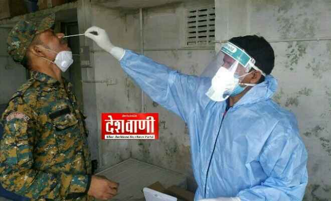 रक्सौल: प्राथमिक स्वास्थ्य केंद्र में एक कैंप लगाकर लगभग 200 लोगों का कोरोना का सैंपल लिया गया