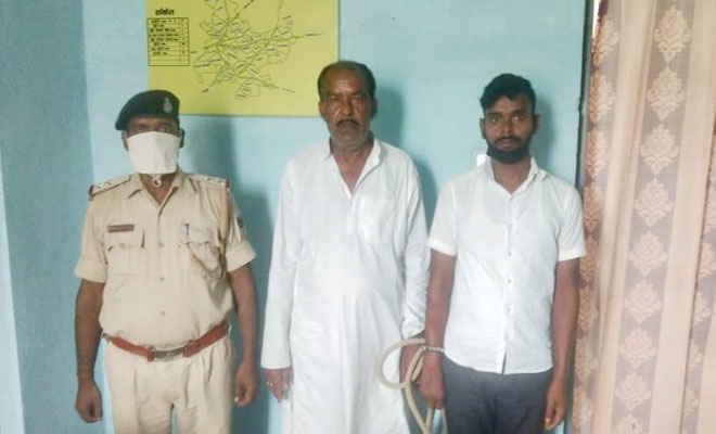 मोतिहारी के पचपकड़ी में किराना व्यवसायी से 20 लाख की रंगदारी मांगने के दो आरोपी गिरफ्तार, सिम व मोबाइल जब्त, एक फरार