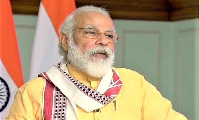 प्रधानमंत्री नरेन्द्र मोदी ने मणिपुर में जल आपूर्ति परियोजना का वीडियो कॉन्फ्रेंसिंग के माध्यम से शिलान्यास किया