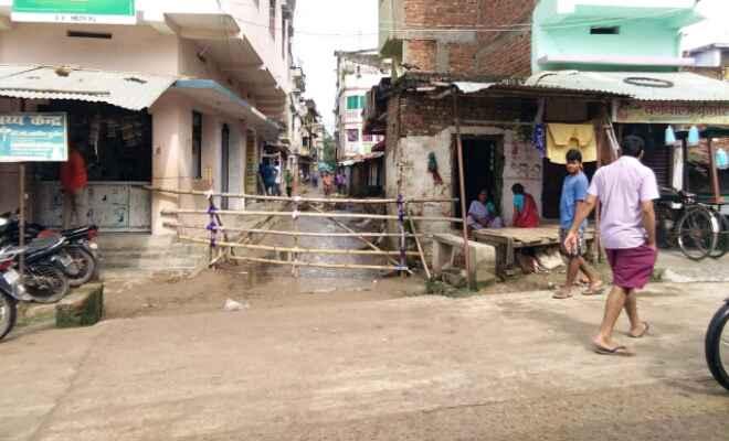 कोरोना: आदापुर बाजार को संवेदनशील क्षेत्र घोषित कर किया गया शील