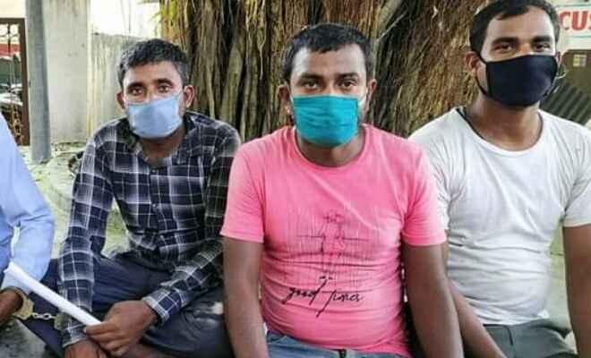 बीरगंज में नेपाल पुलिस ने छापेमारी कर तस्करी के 6 भैंस के साथ तीन लोगों को किया गिरफ्तार