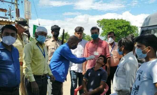 पश्चिम चंपारण: गौनाहा में कोविड-19 एंटीजेन किट टेस्ट संपन्न, 233 की जाँच