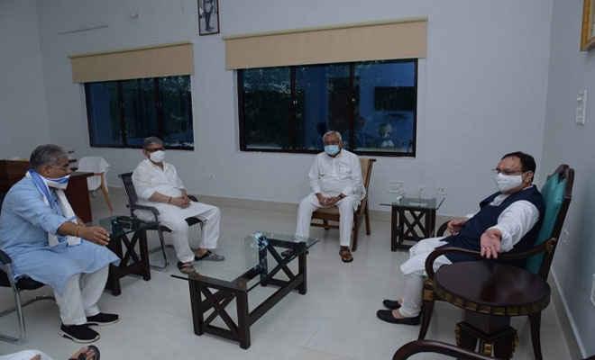 विधानसभा चुनाव: सीएम नीतीश के साथ बीजेपी राष्ट्रीय अध्यक्ष जेपी नड्डा की बैठक खत्म,एनडीए में सीट बंटवारे पर हुई चर्चा