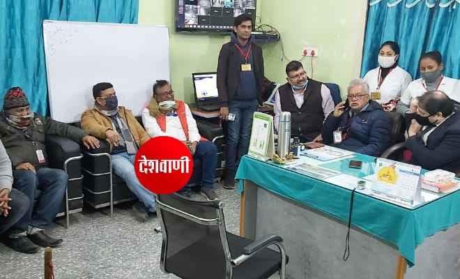 रक्सौल के दुसरे वैक्सीनेशन सेन्टर एसआरपी अस्पताल में किया गया डेमो ट्रायल