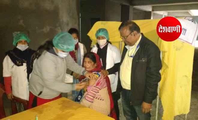 रक्सौल शहर के दो अस्पतालों में 80 लोगों को लगा कोविड वैक्सीन का टीका