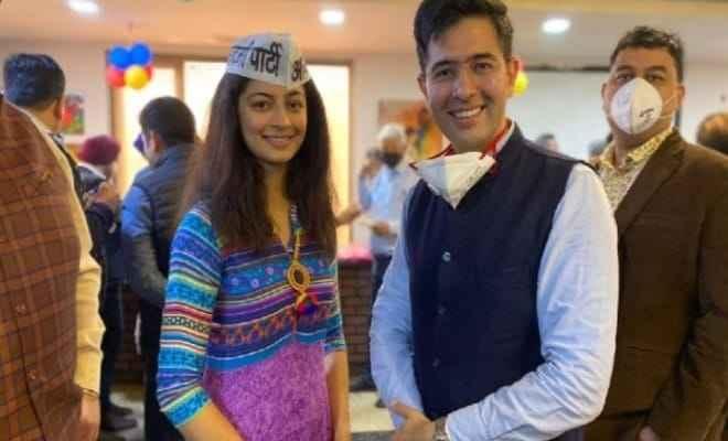 मिस इंडिया दिल्ली 2019 मानसी सहगल आम आदमी पार्टी में हुईं शामिल,राघव चड्ढा की मौजूदगी में ली सदस्यता