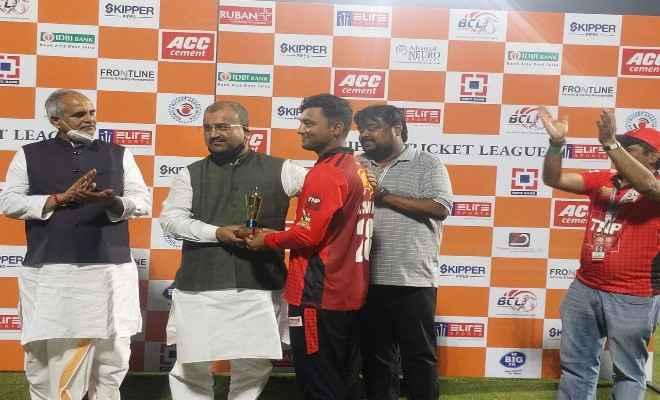 अंगिका एवेंजर्स ने गया ग्लेडियेर्ट्स को 108 रनों से किया पराजित, मैन ऑफ द मैच बने अश्विनी कुमार