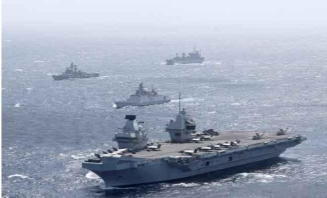 भारतीय नौसेना का रॉयल नेवी कैरियर स्ट्राइक ग्रुप के साथ युद्धाभ्यास