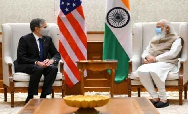 अमेरिकी विदेश मंत्री एंटनी ब्लिंकेन ने प्रधानमंत्री नरेन्द्र मोदी से भेंट की