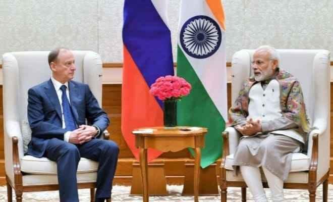 रूस की सुरक्षा परिषद के सचिव निकोलोई पेत्रुशेव ने प्रधानमंत्री नरेन्द्र मोदी से मुलाकात की