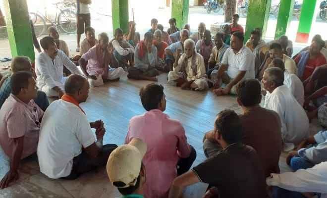 रक्सौल के मनोकामना माई मंदिर के प्रांगण में दुर्गा पूजा मेला समिति की बैठक संपन्न